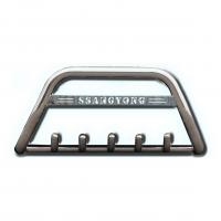 Защита переднего бампера для Mitsubishi ASX F1-09 d60мм x 1.6