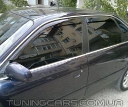 Дефлекторы окон Audi 100 C4, Ветровики Ауди 100 Ц4 (Cobra Tuning)