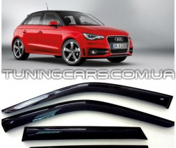 Дефлекторы окон Audi A1 Hb 5d 2012+, Ветровики Ауди А1 ХБ 5
