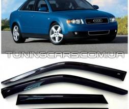 Дефлекторы окон Audi A4 B6, B7 2000+, Ветровики Ауди А4 Б6, Б7