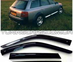 Дефлекторы окон Audi A6 Allroad 2000+ / Audi A6 Avant 1997+, Ветровики Ауди А6 Авант
