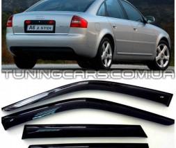 Дефлекторы окон Audi A6 C5 1997+, Ветровики Ауди А6 Ц5