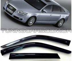 Дефлекторы окон Audi A6 C6 2005+, Ветровики Ауди А6 Ц6