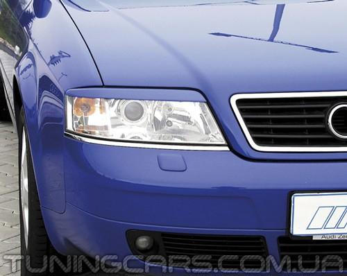 Накладки на фары (реснички) Audi A6 C5, Ауди А6 Ц5