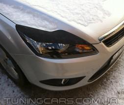 Накладки на фары (реснички) Ford Focus II седан, Форд Фокус 2
