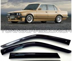 Дефлекторы окон BMW 3 E30, Ветровики БМВ 3 Е30 Седан