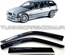Дефлекторы окон BMW 3 E36 1995-1999 Touring, Ветровики БМВ 3 Е36 Туринг