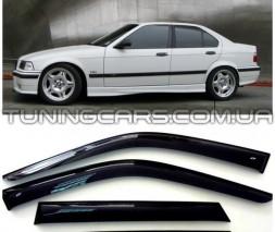 Дефлекторы окон BMW 3 E36, Ветровики БМВ 3 Е36 Седан