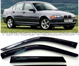Дефлекторы окон BMW 3 E46, Ветровики БМВ 3 Е46 Седан