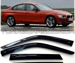 Дефлекторы окон BMW 3 F30, F35 2012+, Ветровики БМВ 3 Ф30, Ф35 Седан