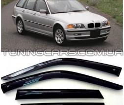 Дефлекторы окон BMW 3 Wagon (E46) 1998-2005, Ветровики БМВ 3 Е46 Вагон