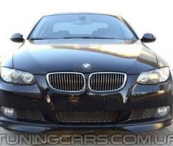 Накладка на передний бампер BMW E92, Юбка передняя БМВ Е92