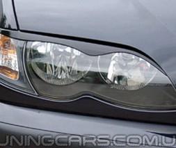 Накладки на фары (реснички) BMW E46, БМВ Е46