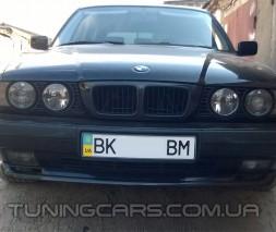 """Накладка на передний бампер BMW E34, Юбка передняя """"M-Teх"""" БМВ Е34"""