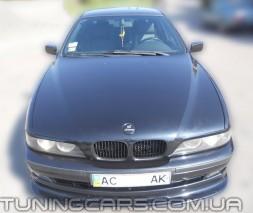 Накладка на передний бампер BMW (До рестайл), Юбка передняя БМВ E39