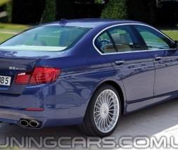 Накладка на задний бампер Alpina для BMW 5 F10, губа Альпина БМВ Ф10