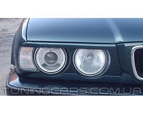 Накладки на фары (реснички) BMW E34 (ровные)