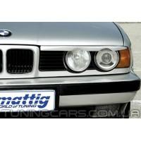 Накладки на фары (реснички) BMW E34 (с вырезом)