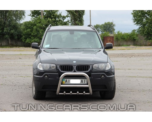 Защита переднего бампера для BMW X3 (2004-2006) BMX3.04.F2-01 d60мм x 1.6