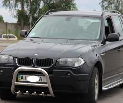 Защита переднего бампера (кенгурятник) BMW X3  F2-01 (2004-2006)