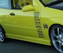 Накладки на пороги для BMW (Модель №6), БМВ