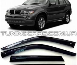 Дефлекторы окон BMW X5 E53 2000-2006, Ветровики БМВ Х5 Е53