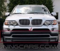 Накладка на передний бампер BMW X5 E53 до рестайлинг, Юбка передняя БМВ Е53 Х5