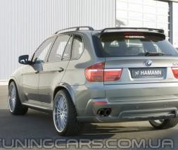 Накладка на задний бампер Hamann BMW X5 E5, Хаманн 3 БМВ Х5 Е70
