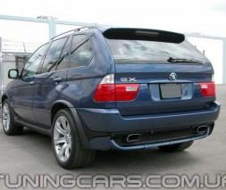 Накладка на задний бампер BMW X5 E53, БМВ Е53 Х5