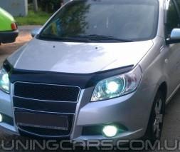 Дефлектор капота Chevrolet Aveo 2008-2011