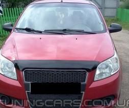 Дефлектор капота Chevrolet Aveo HB 2008-2011 5d