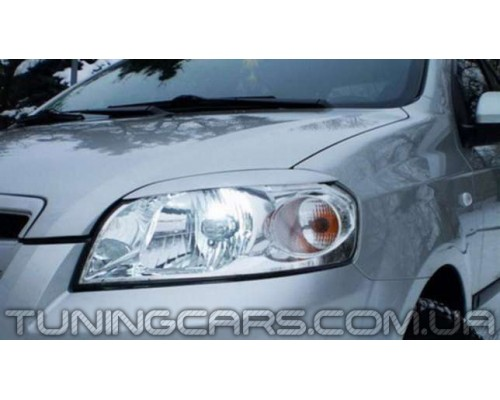 Накладки на фары Chevrolet Aveo