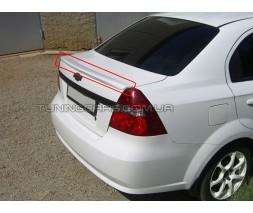 Спойлер на багажник для Chevrolet Aveo 3 / Лип спойлер Шевроле Авео 3