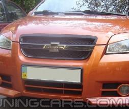 Клыки на передний бампер Chevrolet Aveo 2, Шевроле Авео