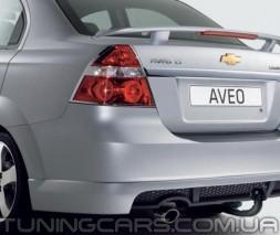 "Накладка на задний бампер Chevrolet Aveo 2 ""GM"", Шевроле Авео"