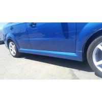 Накладки на пороги Chevrolet Aveo GM