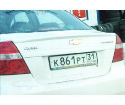 "Спойлер Chevrolet Aveo ""Сабля"""