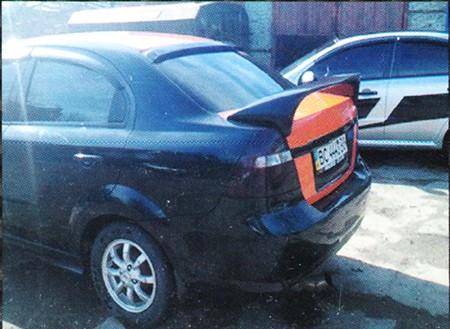 Спойлер Chevrolet Aveo Спорт