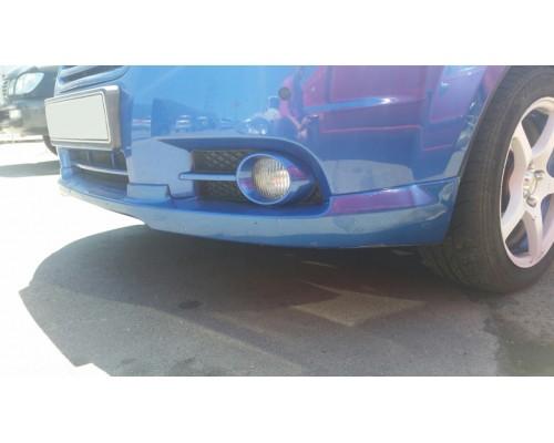 """Накладка на передний бампер Chevrolet Aveo """"GM"""""""