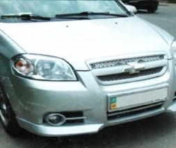 Накладка на передний бампер Chevrolet Aveo