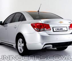 "Накладка на задний бампер Chevrolet Cruze ""Extrime"", Шевроле Круз"