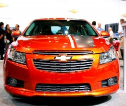 """Накладка на передний бампер Chevrolet Cruze """"Z-Line"""", Шевроле Круз"""