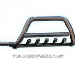 Защита переднего бампера для Chevrolet Captiva (2006-2011) CVCP.06.F1-07 d60мм x 1.6