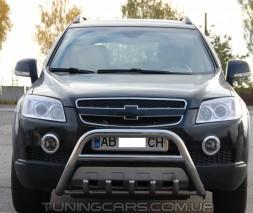 Защита переднего бампера для Chevrolet Captiva (2006-2011) CVCP.06.F1-20 d60мм x 1.6