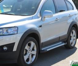 Пороги Chevrolet Captiva [2006+] AB004 (Artemis Silver)
