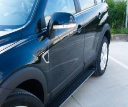 Пороги Chevrolet Captiva [2006+] EB002 (Elegance Black)