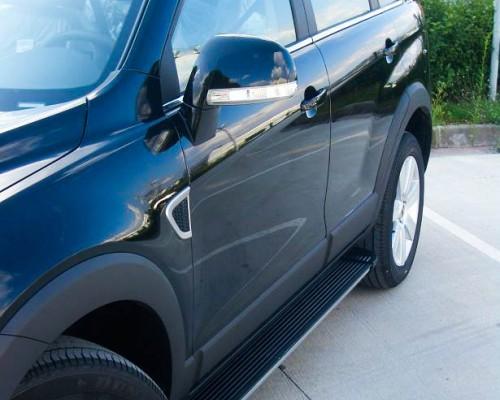 Пороги Chevrolet Captiva (2006+) EB002 (Elegance Black)
