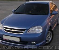 """Накладка на передний бампер Chevrolet Lacetti """"GM"""", Шевроле Лачетти"""