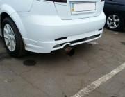 Накладка на задний бампер Chevrolet Lacetti Hatchback