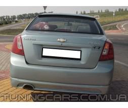 Накладка на задний бампер Chevrolet Lacetti GM, Шевроле Лачетти